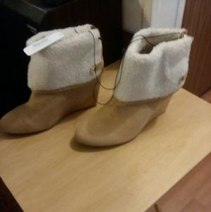 Shoes - Wedge Boots NWT
